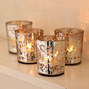 Thumb antique effect t liught holders votives