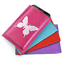 Printed Leather Butterfly Iphone Cover