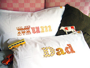 Mum And Dad Printed Pillowcase Set - bedroom