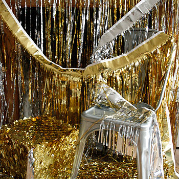 Metallic Paper Bling Fringed Decorations