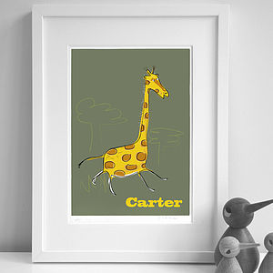 Personalised 'Giraffe' Print - children's room