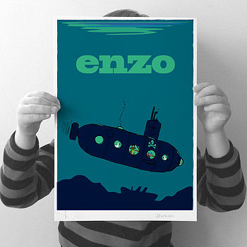 Personalised 'Submarine' Print