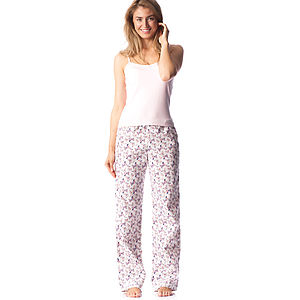 Butterfly Pyjama Bottoms: Long & Reg Leg - lingerie & nightwear