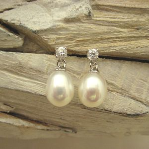 Drop Pearl Earrings - earrings