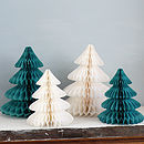 Set Of Two Christmas Paper Tree Decorations