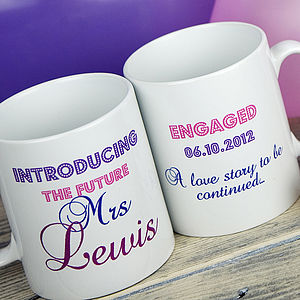 Personalised Engagement Mug - engagement gifts