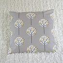 Tree Cushion Cover Pale Grey Square 40cm x 40cm