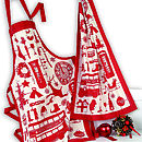 Airfix Christmas Apron & Tea Towel Set