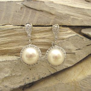 Decadent Drop Pearl Earrings - wedding jewellery