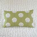Tree Cushion Cover Olive Green Bolster 30cm x 50cm