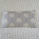 Tree Cushion Cover Pale Grey Bolster 30cm x 50cm