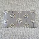 Tree Cushion Cover Pale Grey Bolster 30cm x 50cm