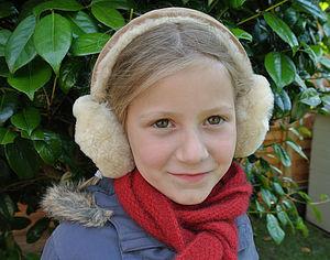 Sheepskin Ear Muffs - hats, scarves & gloves