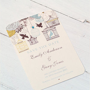 Birdcage And Blossom Save The Date Cards - save the date cards