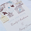 Birdcage And Blossom Save The Date Cards