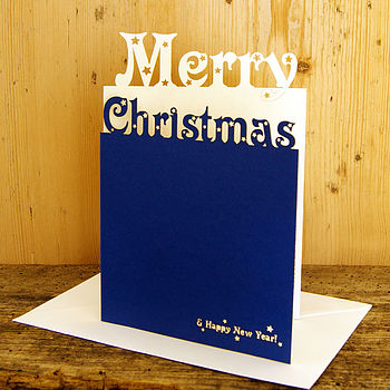 Personalised Laser Cut Merry Christmas Card