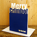 Personalised Merry Chrimbo Card