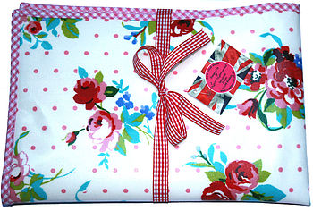 Oilcloth Vintage Floral Baby Changing Mat