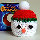 Thumb stan the snowman chocolate orange cosy