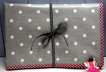 Oilcloth Spotty Baby Changing Mat