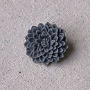 Chrysanthemum Brooch Grey