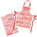 Christmas Dinner Apron & Tea Towel Set