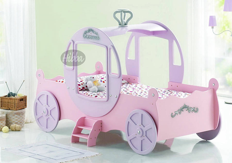 wood princess carriage bed | Dreams House Furniture