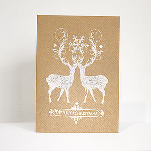 'Dazzling Deer' Christmas Card - cards