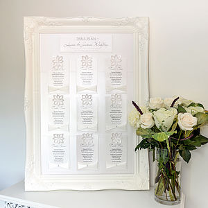 Floravita Table Plan - wedding stationery