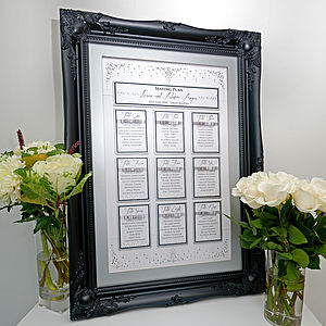 Crystal Rain Table Plan - wedding stationery
