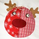 Personalised Santa Sack With Rudolph