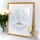 Hand Drawn Wedding Fingerprint Tree