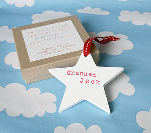 Personalised Wooden Memory Star - home accessories
