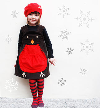 Winter Robin Christmas Play Dress