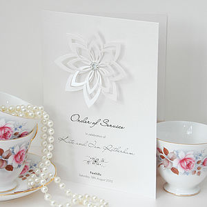 Floravita Order Of Service - wedding stationery