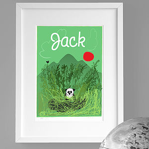 Personalised 'Panda' Print - pictures & prints for children