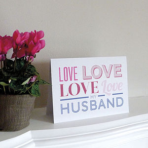 'Love' Card - wedding, engagement & anniversary cards