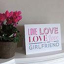 Love Card Girlfriend
