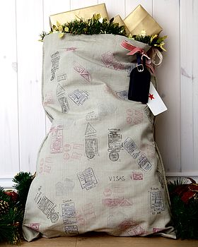 Personalised Santa's Passport Sack