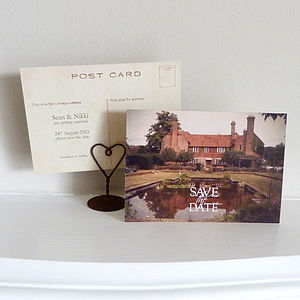 25 Your Venue Save The Date Postcards