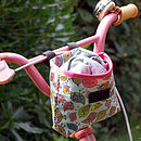 Birdies Print Child's Scooter Or Bike Bag Front Basket