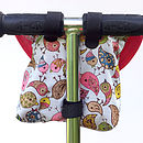 Birdies Print Child's Scooter Or Bike Bag Back