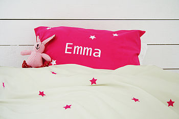 Girl's Personalised Star Duvet Cover Set