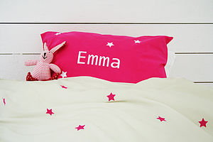Girl's Personalised Star Duvet Cover Set - bedding & accessories