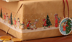 Christmas Snow Scene Tape - cards & wrap