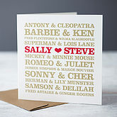 Personalised Couples Card - valentine's day
