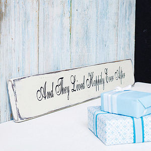 'And They Lived Happily Ever After' Wooden Sign - outdoor decorations