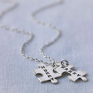Personalised Jigsaw Necklace - personalised jewellery