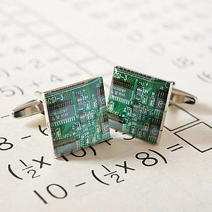 Circuit Board Cufflinks - men's jewellery