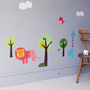 Safari Animal Wall Stickers - wall stickers